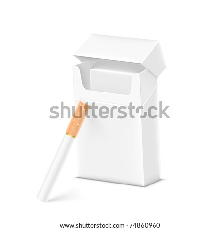 pack of cigarettes vector - stock vector