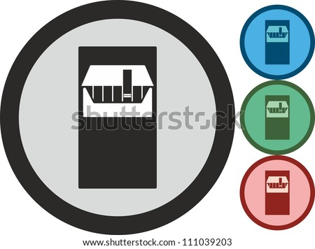 Pack of cigarettes, vector, icon