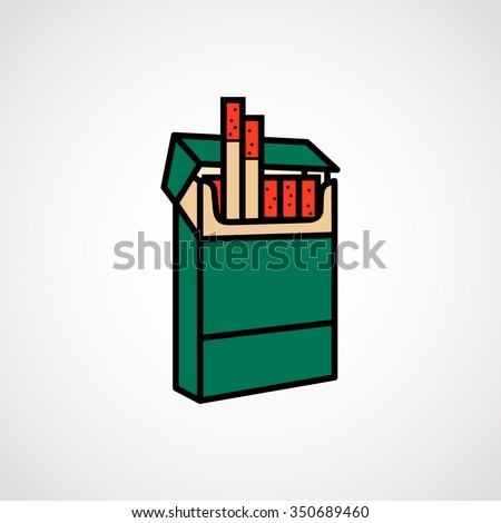 Pack Of Cigarettes.vector illustration.
