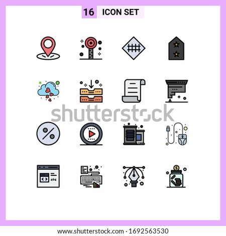 pack of 16 creative flat color