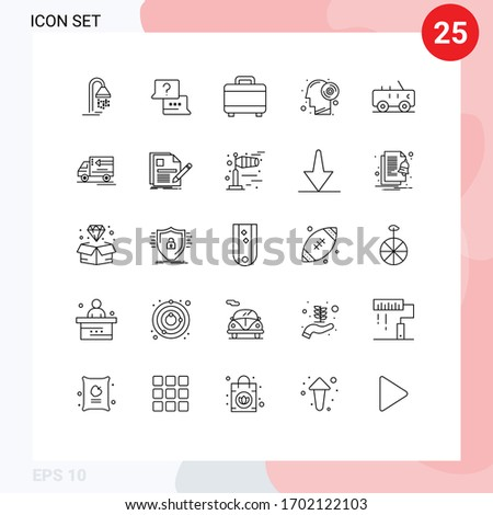 pack of 25 creative lines of