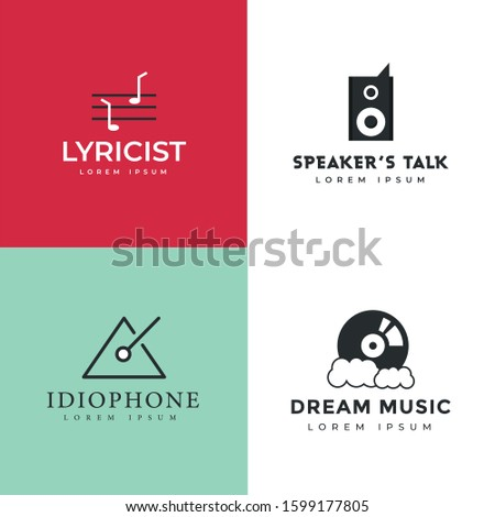 Pack Of Entertainment Labels Vector
