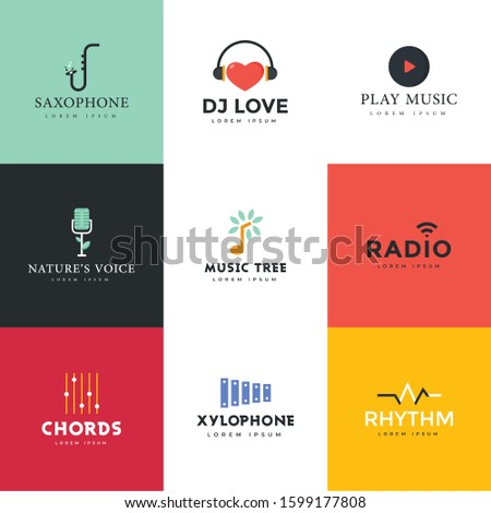 Pack Of Entertainment Logos Vector