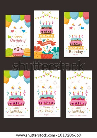 stock-vector-pack-of-happy-birthday-card-design