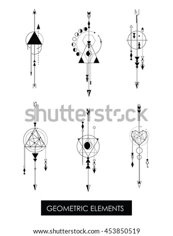 Pack of high quality geometric elements… Stock Photo 453850513