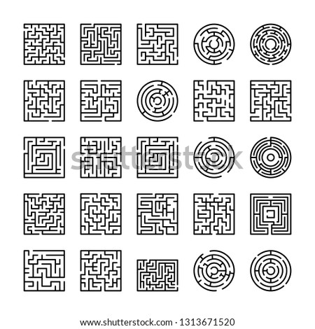 Pack Of Maze And Labyrinth Icons