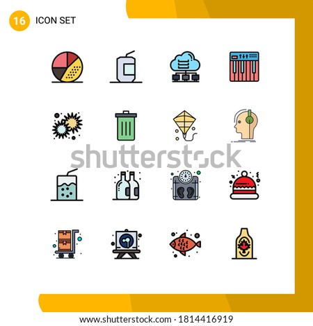pack of 16 modern flat color