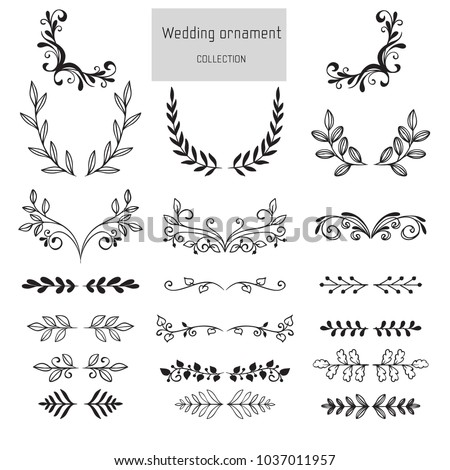 Pack of wedding ornaments with ink