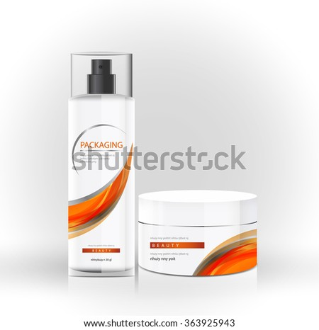 package beauty cream bottle design vector