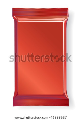 Package for chocolate and sweets, vector