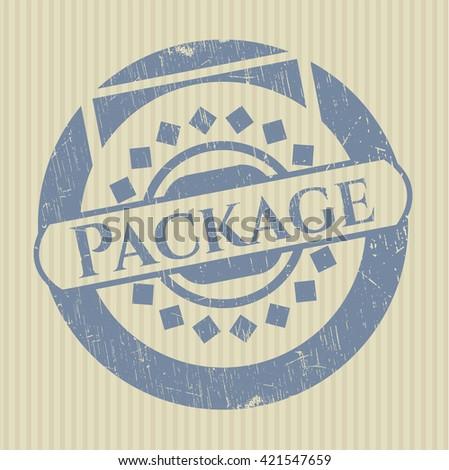 Package grunge stamp