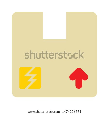 package icon. flat illustration of package vector icon. package sign symbol