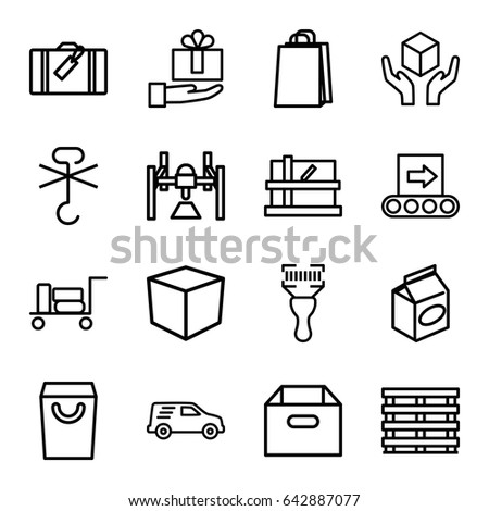 package icons set set of 16