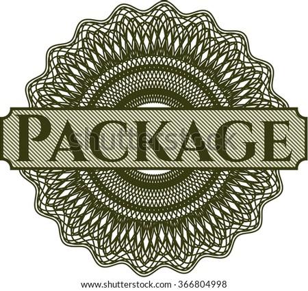 Package money style rosette