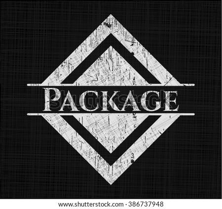 Package on chalkboard