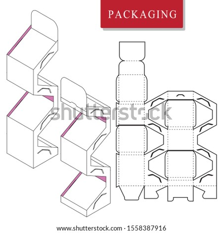 Package on package (PoP). Packaging for cosmetic or skincare product.Display.