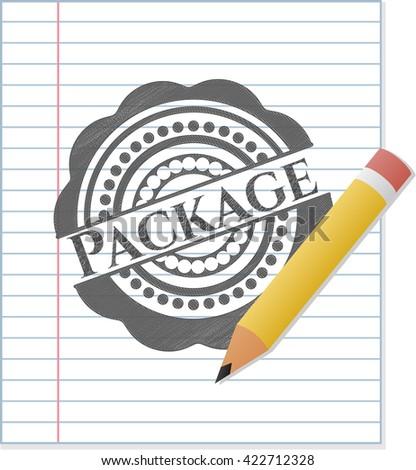 Package penciled