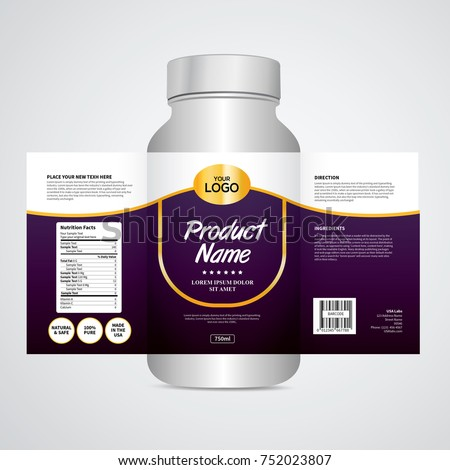 Package template design, Label design, Mock up design label  #752023807
