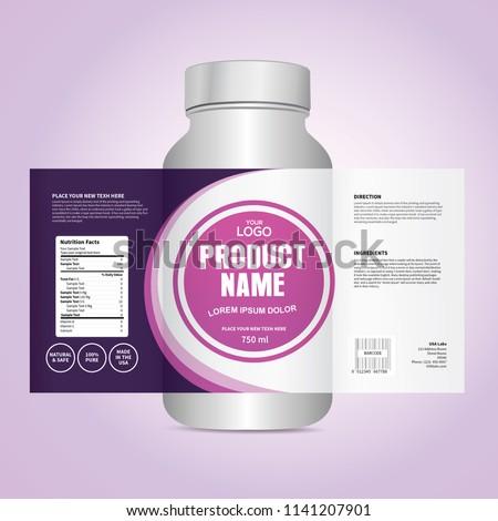 Package template design, Label design, mock up design label template #1141207901