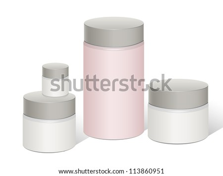 Package white and Pink box design, vector illustration