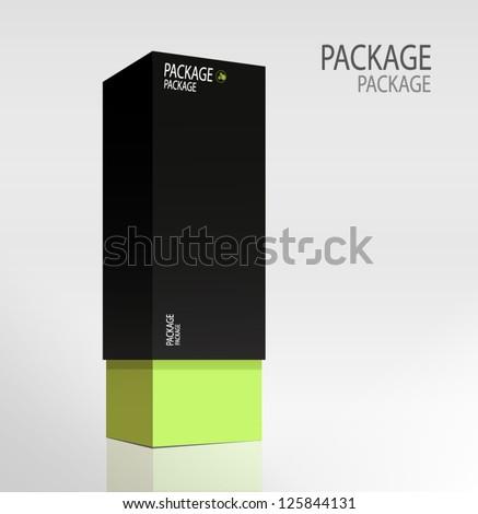 Package white box design 3, vector illustration