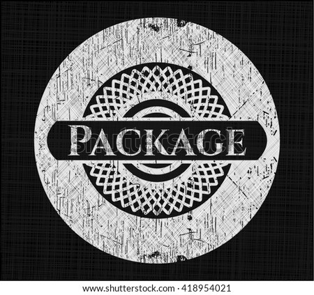 Package with chalkboard texture