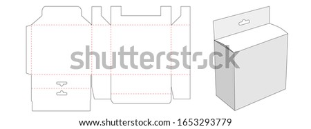 Packaging box with hang hole die cut template design