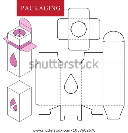 Packaging DesignVector Illustration Of BoxPackage Template Isolated White Retail Mock Up