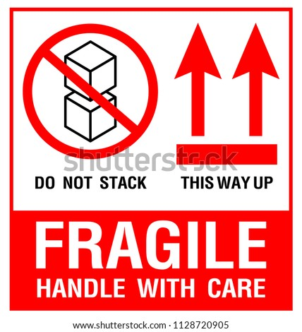 Packaging Label - Fragile- Just Print & Use