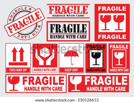 picture regarding Fragile Labels Printable referred to as Deal with With Treatment Stickers No cost Vector - Obtain No cost
