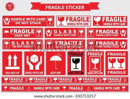 Handle With Care Labels and Icons - Download Free Vector Art, Stock