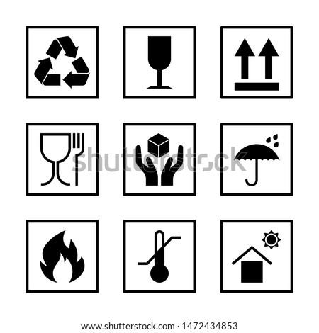 packaging pictogram set