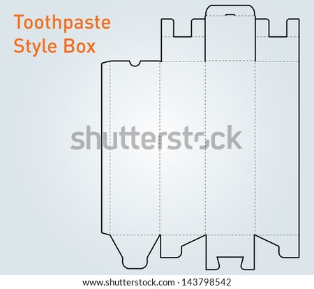 Packaging toothpaste style box template vector - stock vector