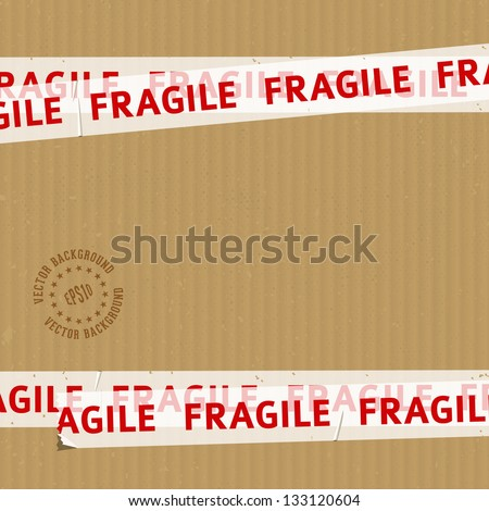 Packing Box With Fragile Tape