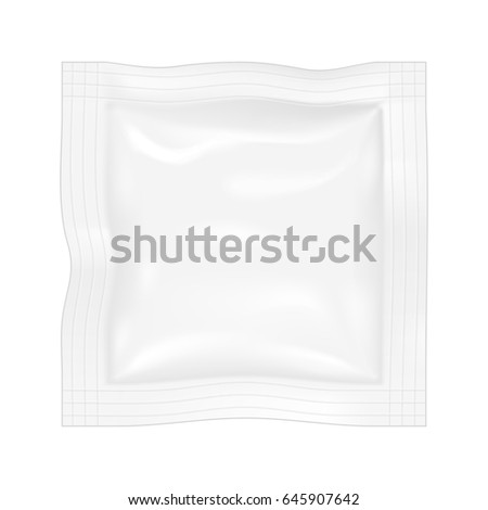 Packing for the isolation of the product on a white background. Graphic concept for your design.