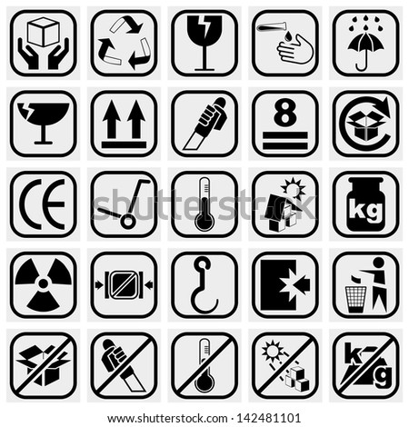 packing   shipping vector icons