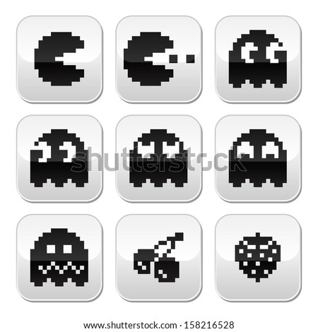 pacman  ghosts  8bit retro game