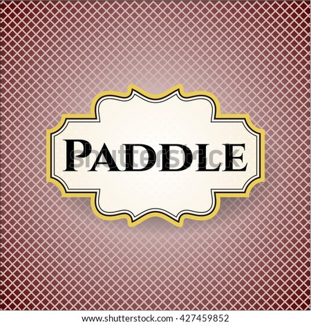 Paddle card or banner