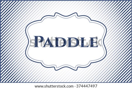 Paddle card with nice design