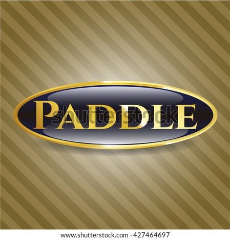 Paddle gold emblem or badge