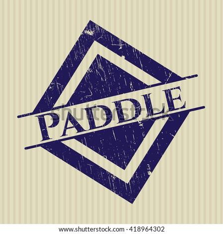 Paddle grunge stamp