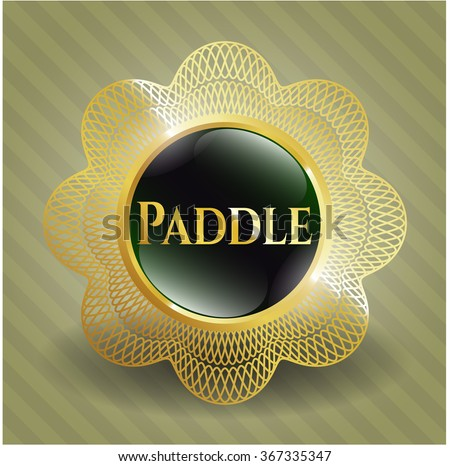 Paddle shiny badge