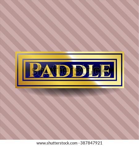 Paddle shiny emblem