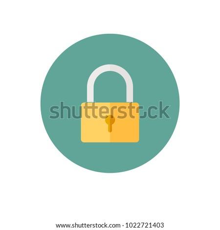 padlock icon EPS10