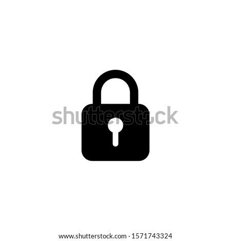 padlock icon isolated on white background