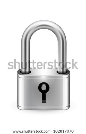 padlock icon keyhole