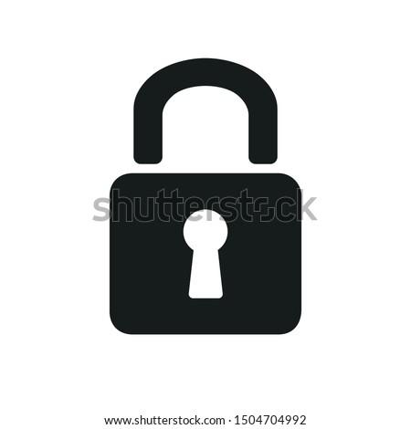Padlock icon sign – stock vector Foto stock ©