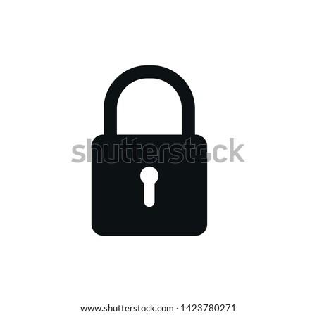 Padlock icon vector ,safety icon illustration Stock photo ©