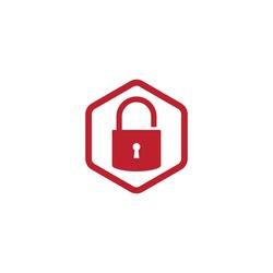 padlock logo icon vector template illustration