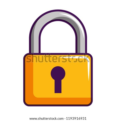 padlock security protection isolated image